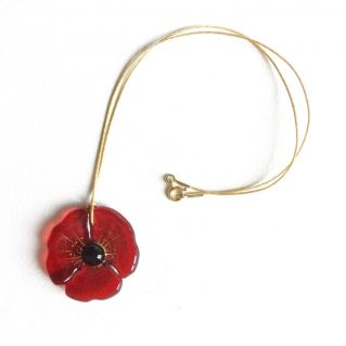Collier COQUELICOT rouge vif
