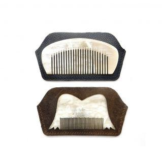 Étui en cuir pour le Voyageur et Moustaches