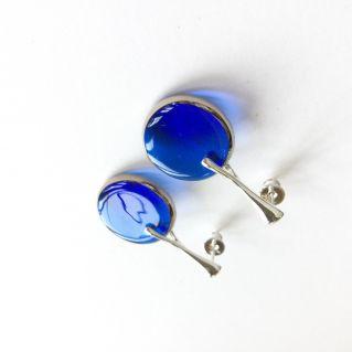 Boucles PLEINE LUNE bleu roi
