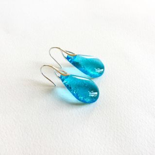 Boucles GOUTTES turquoise