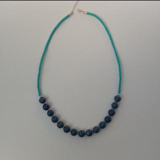 Collier bleu Koliero
