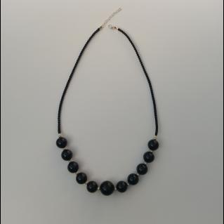 Collier agates noires Koliero