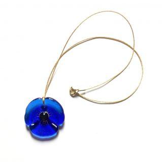 Collier COQUELICOT bleu roi