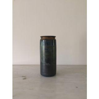 Grand vase à petit col, collection Encre Bleue