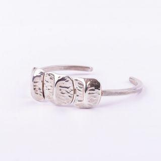 Bracelet  jonc 3 écailles Argent- deuxième modèle-