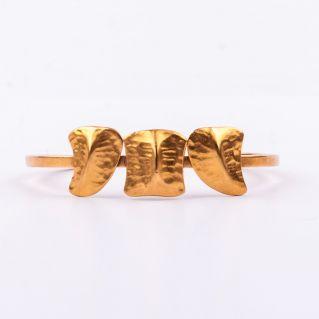 Bracelet  jonc  3 écailles  plaqué Or - premier modèle-
