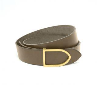 ceinture cuir faite main couleur gris boucle noire