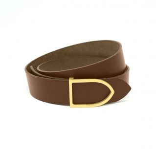 "Ceinture ""sangle U"" laiton cappucino"