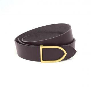 ceinture cuir capuccino boucle laiton faite main
