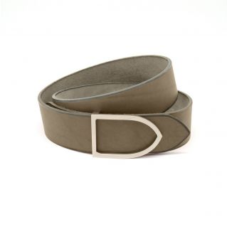 ceinture cuir faite main couleur océan boucle argentée