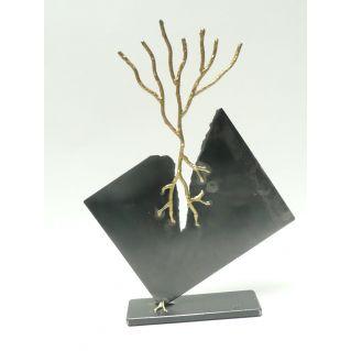 """Sculpture """"Fissure"""", oxydovégétalisation"""