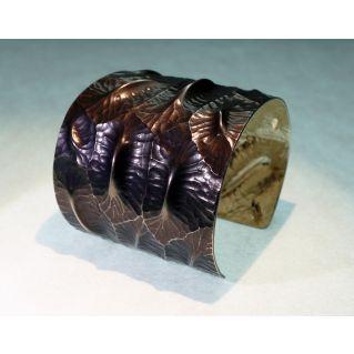 Manchette écailles de crocodile argent collection Cyclothymie