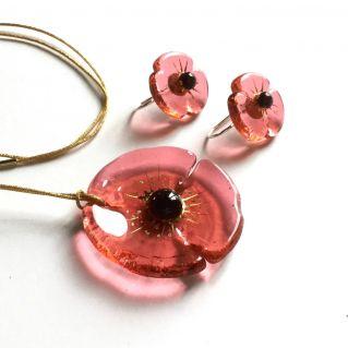 Parure COQUELICOT rosaline