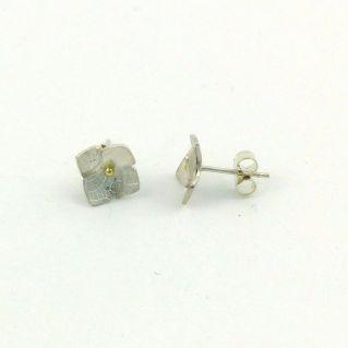 Puces d'oreilles Hortense en argent et or