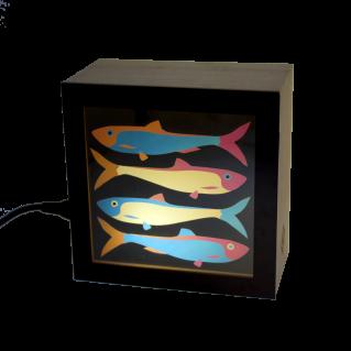 Lampe KINO motif sardine