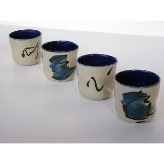 Tasse «Traces»  – bleue