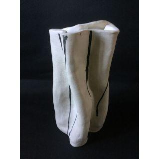 Vase-sculpture en grès