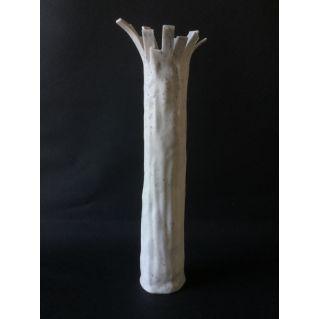 Vase-sculpture tronc porcelaine