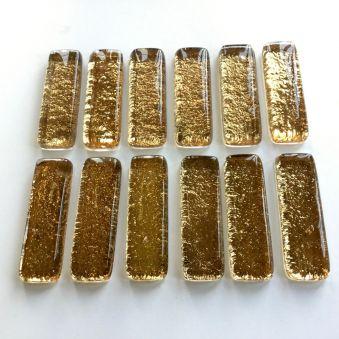 Coffret de 12 porte-couteaux dorés