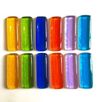 Coffret de 12 porte-couteaux couleurs vives