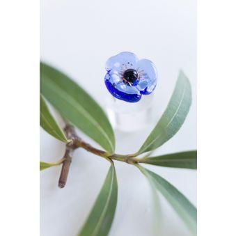 Bague Fleur bleu ciel