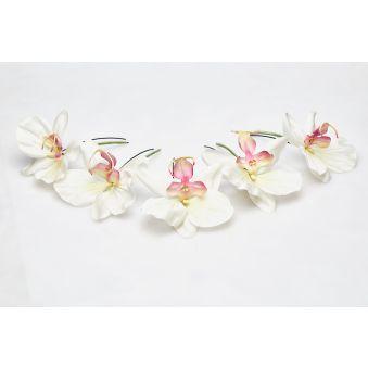 Pics chignon Orchidées Lueur du Jour (set 5 pièces)