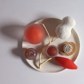 Assiette orange