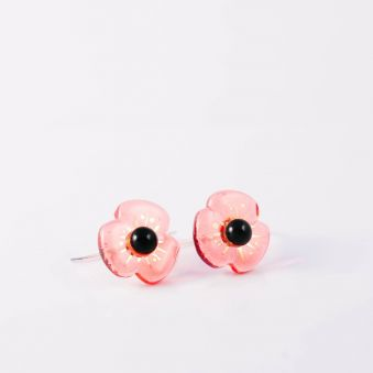 Boucles d'oreille Petite Fleur rosaline