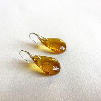 Boucles GOUTTES ambre