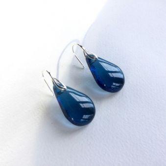 Boucles GOUTTES bleu acier