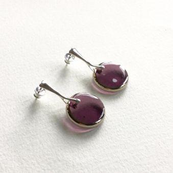 Boucles d'oreilles Pleine Lune Violette