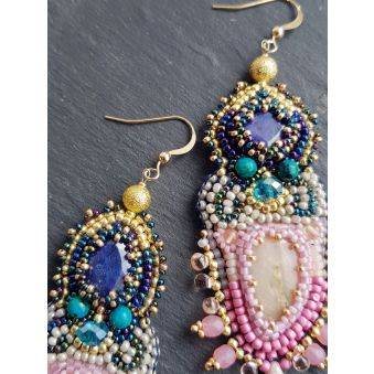 "Boucles d'oreilles ""Blame it on the storm"""
