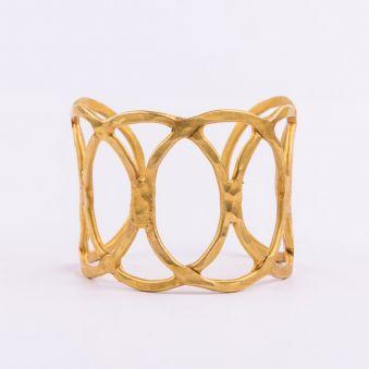 Bracelet treize lignes laiton doré olga prieto tejido