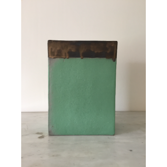 Vase rectangulaire, collection Vert Antique