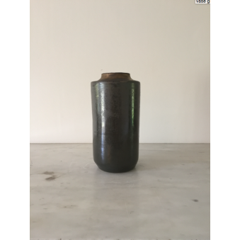Vase à col droit, collection Gris Perle