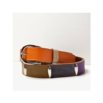 Ceinture MULTICOLORE orange /violet/taupe