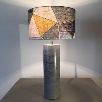 Lampe «Citadine» jaune  - cylindre
