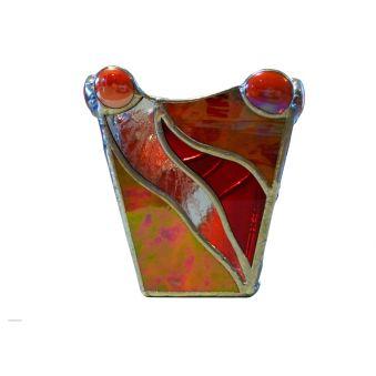 photophore vitrail tiffany gris vue angle
