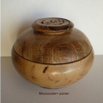Boîte déco en micocoulier et poirier