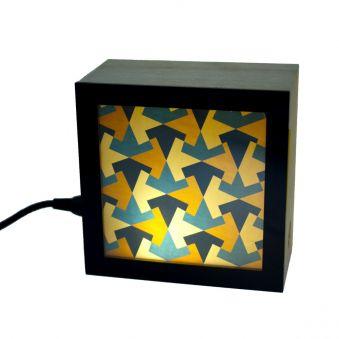 Lampe KINO motifs géométriques