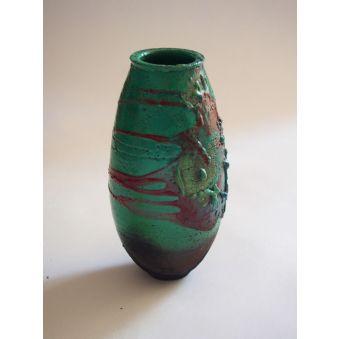 Vase vert prairie