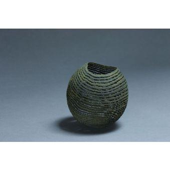 "Sculpture dentelle de bois ""Bol rouille moyen"""