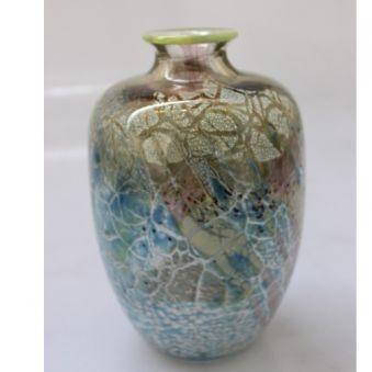 Vase craquelé bleu clair