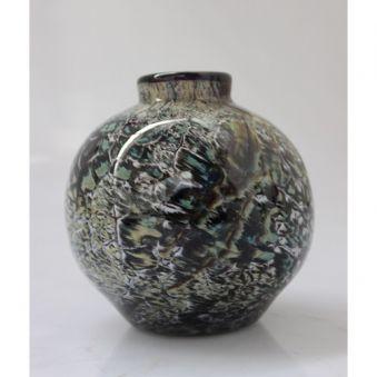 Vase craquelé noir