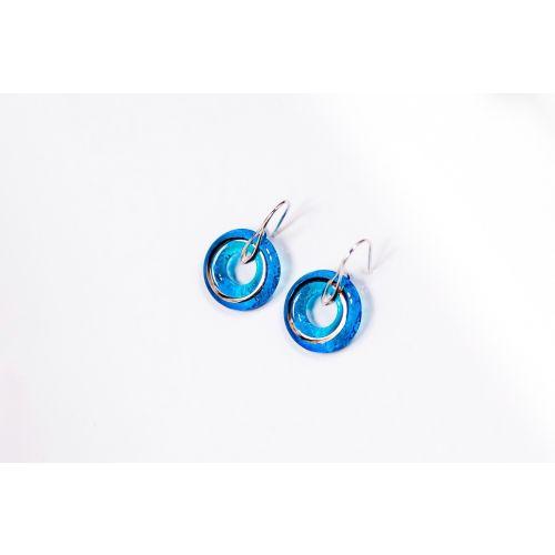 Boucles d'oreilles Alliance bleu turquoise
