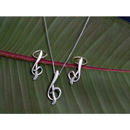 """Boucles d'oreilles """"clé de sol"""""""