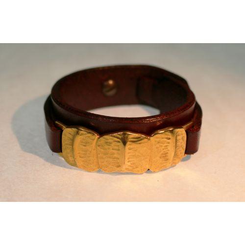 Bracelet de force pour femme plaqué or