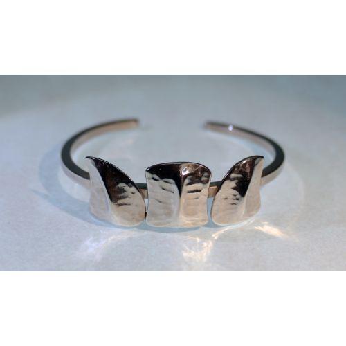 Bracelet  jonc 3 écailles  Argent - premier modèle-