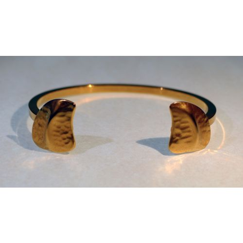 Bracelet  jonc 2 écailles plaqué Or