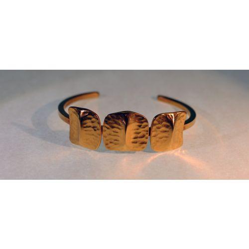 Bracelet  jonc 3 écailles plaqué Or - deuxième modèle-